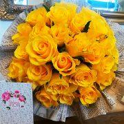 Buchet 29 trandafiri galbeni