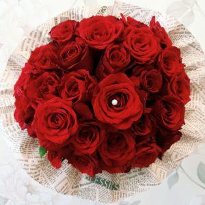 Buchet 29 de trandafiri rosii