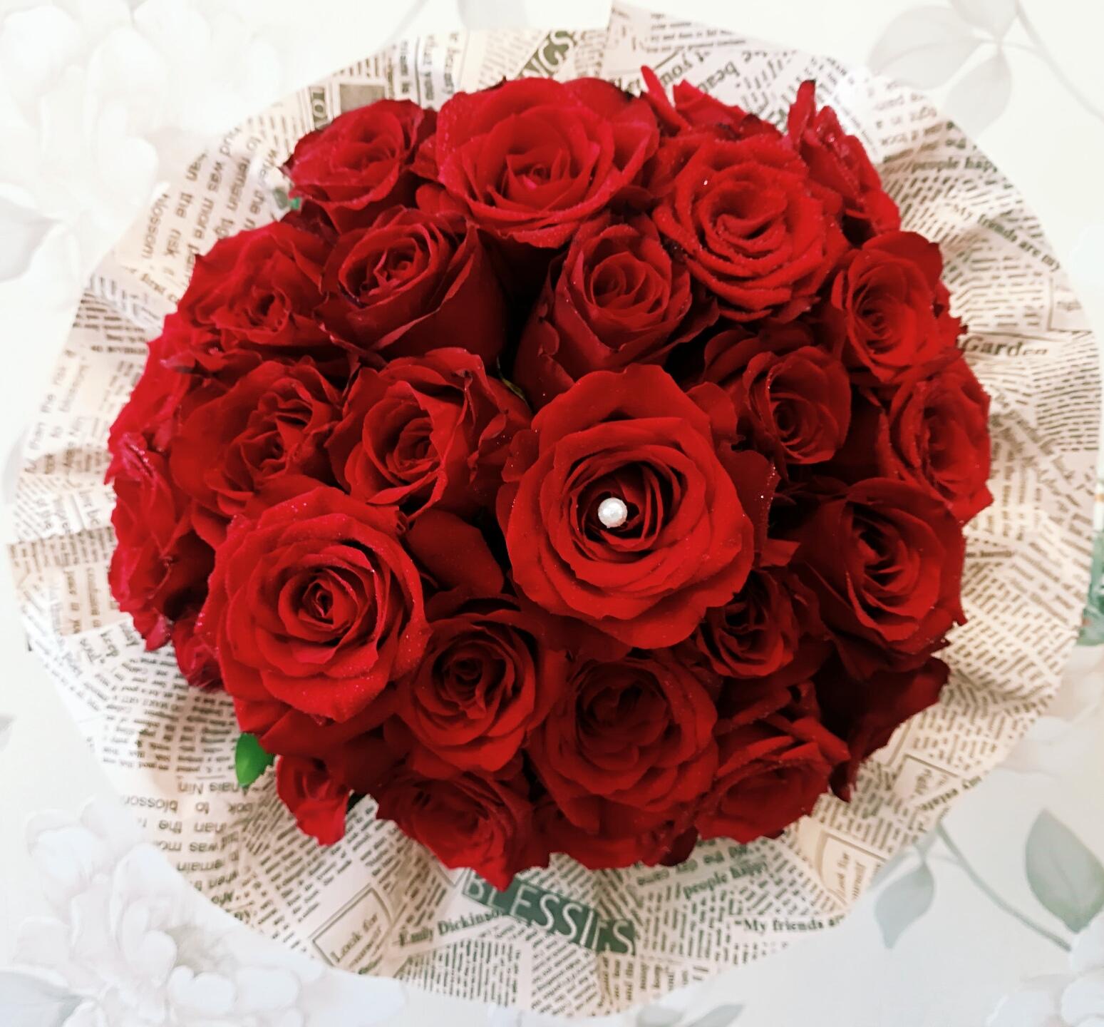 Buchet 29 Trandafiri Rosii Atelier Flori Floresti